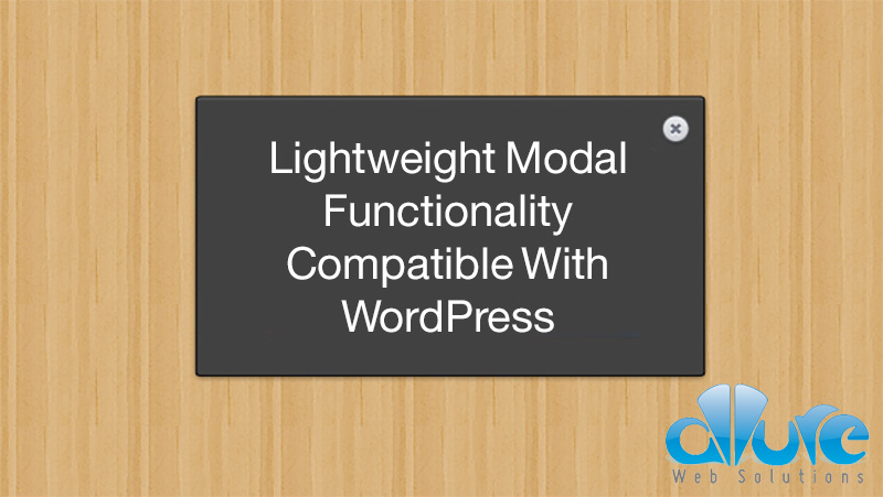 Lightweight WordPress Modal Functionality Tutorial