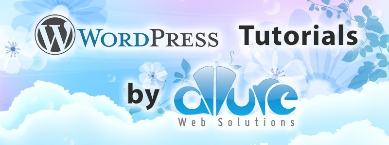WordPress Tutorials by Allure Web Solutions