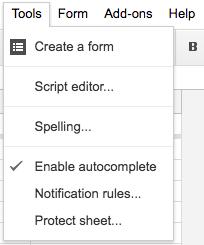 Open Google Script Editor
