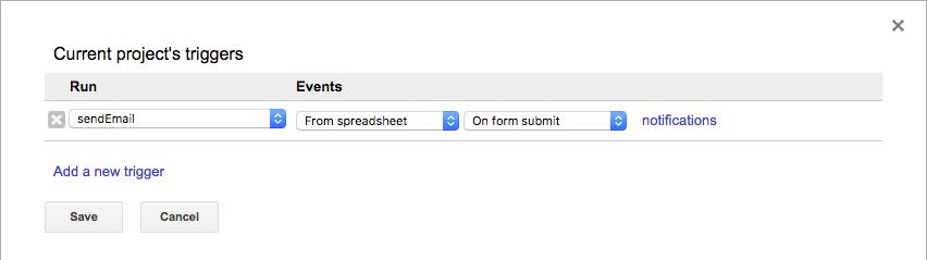 Google Scripts Trigger