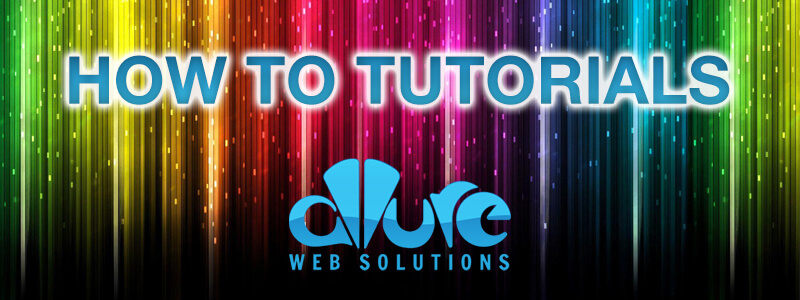 How To Tutorials by Allure Web Solutions